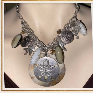 🍂SHELL NECKLACE AS SHOWN🍂WORN ONCE🍂